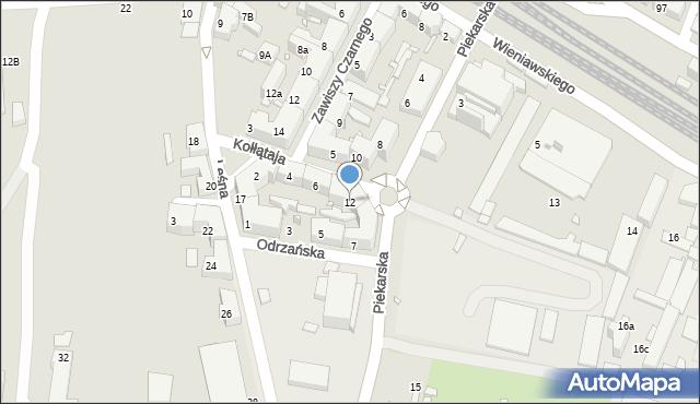 Chorzów, Piekarska, 12, mapa Chorzów