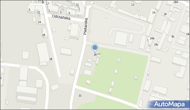 Chorzów, Piekarska, 15, mapa Chorzów