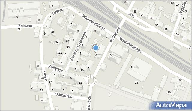 Chorzów, Piekarska, 6, mapa Chorzów