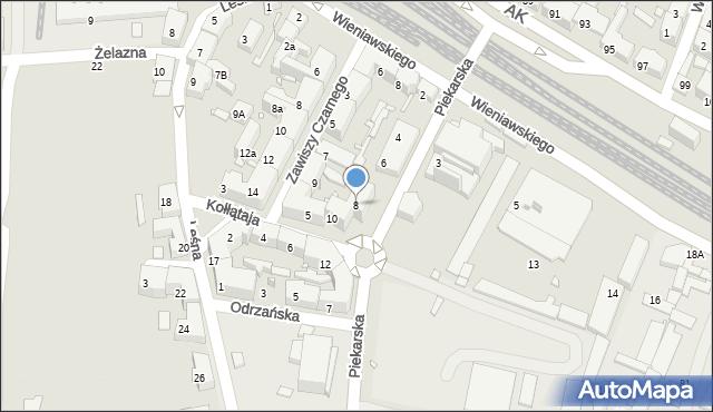 Chorzów, Piekarska, 8, mapa Chorzów