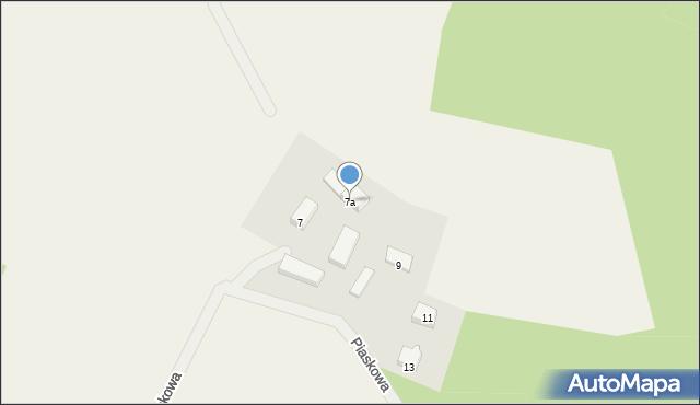 Dąbrówka, Piaskowa, 7a, mapa Dąbrówka