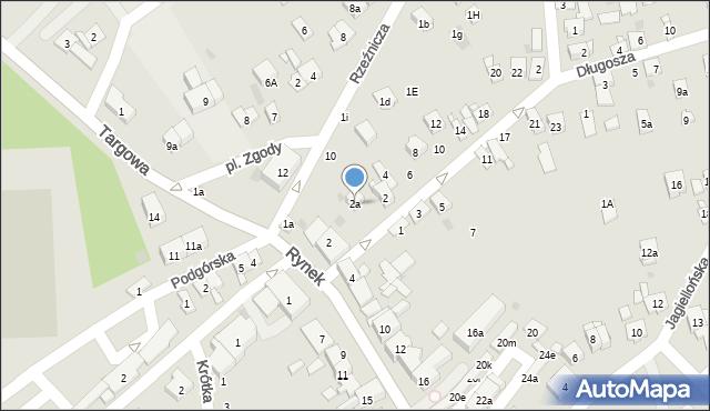 Dobczyce, Piłsudskiego Józefa, marsz., 2a, mapa Dobczyce