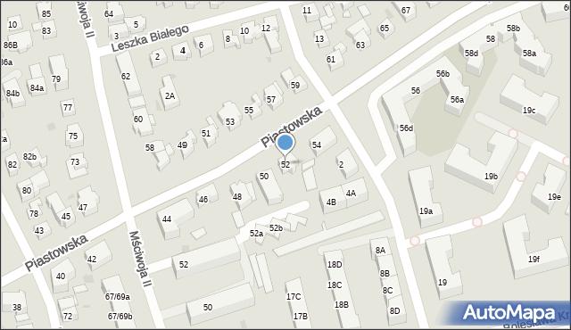 Gdańsk, Piastowska, 52, mapa Gdańska