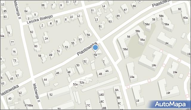 Gdańsk, Piastowska, 54, mapa Gdańska