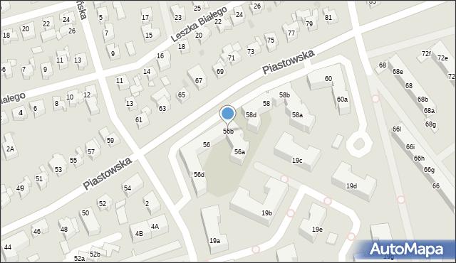 Gdańsk, Piastowska, 56b, mapa Gdańska