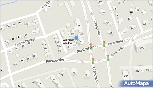 Gdańsk, Piastowska, 103, mapa Gdańska