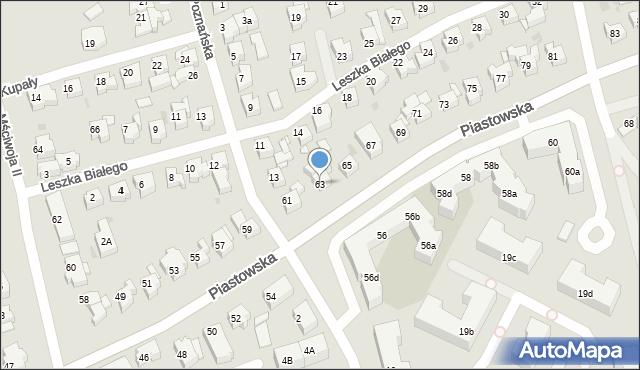 Gdańsk, Piastowska, 63, mapa Gdańska