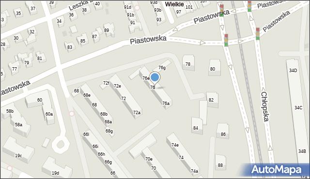 Gdańsk, Piastowska, 76c, mapa Gdańska