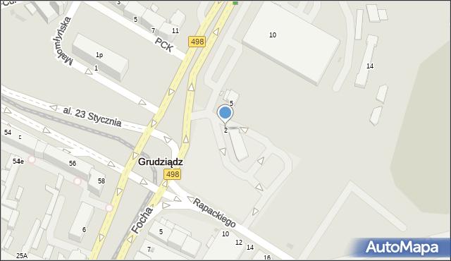 Grudziądz, Piłsudskiego Józefa, marsz., 2, mapa Grudziądza