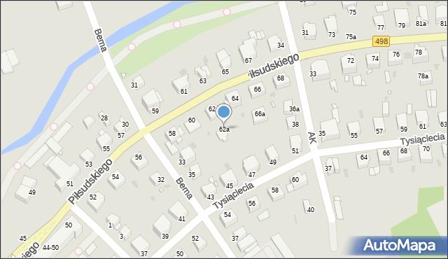 Grudziądz, Piłsudskiego Józefa, marsz., 62a, mapa Grudziądza