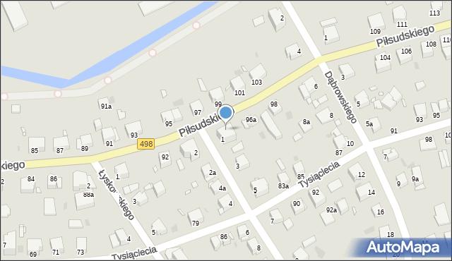 Grudziądz, Piłsudskiego Józefa, marsz., 96, mapa Grudziądza