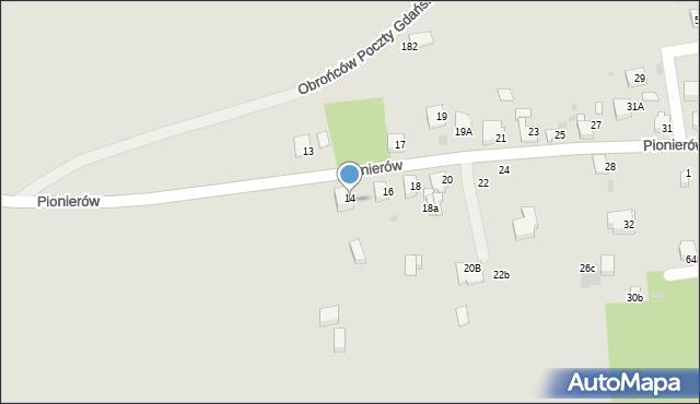 Jaworzno, Pionierów, 14, mapa Jaworzno