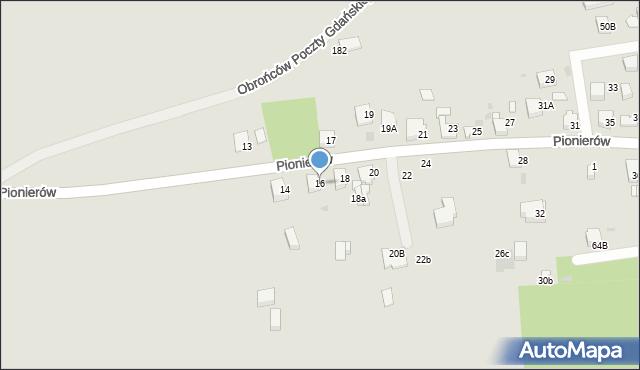 Jaworzno, Pionierów, 16, mapa Jaworzno