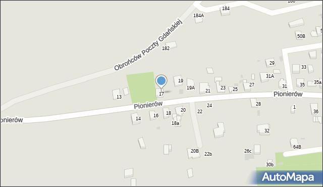 Jaworzno, Pionierów, 17, mapa Jaworzno