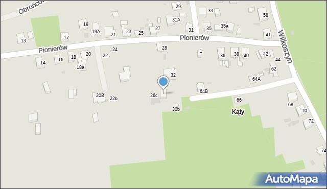 Jaworzno, Pionierów, 28a, mapa Jaworzno