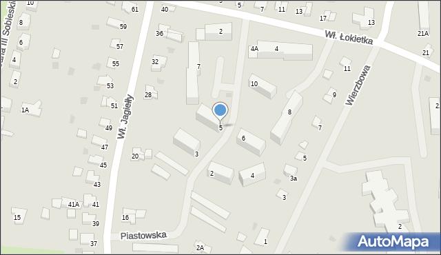 Kętrzyn, Piastowska, 5, mapa Kętrzyn