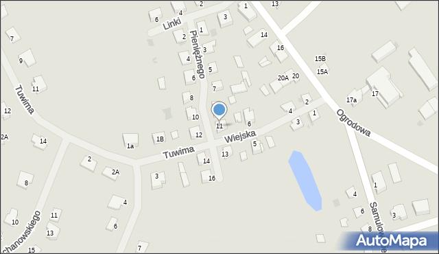 Kętrzyn, Pieniężnego Seweryna, 11, mapa Kętrzyn