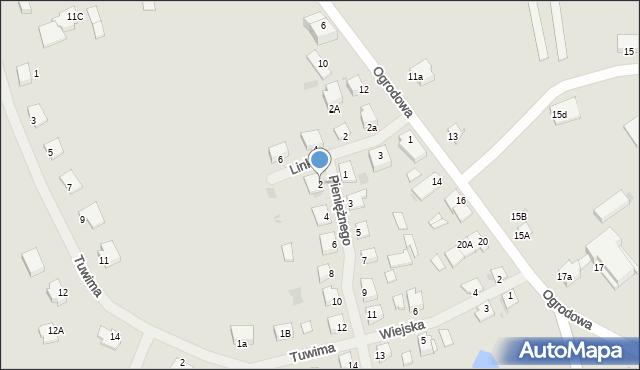 Kętrzyn, Pieniężnego Seweryna, 2, mapa Kętrzyn