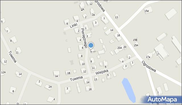 Kętrzyn, Pieniężnego Seweryna, 7, mapa Kętrzyn