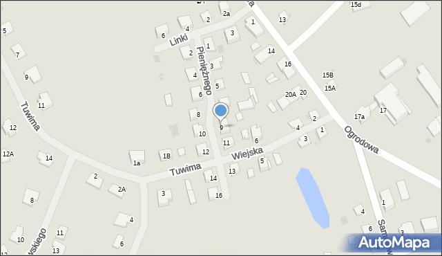 Kętrzyn, Pieniężnego Seweryna, 9, mapa Kętrzyn