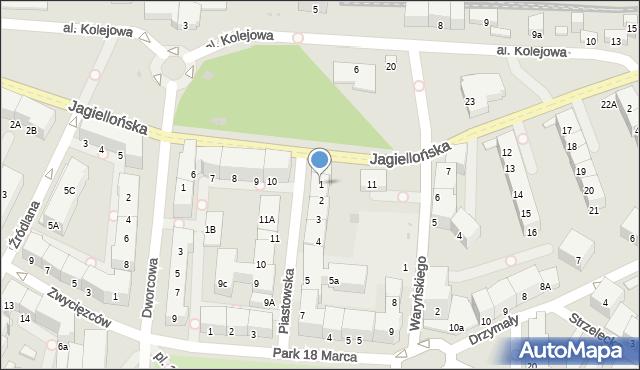 Kołobrzeg, Piastowska, 1, mapa Kołobrzegu