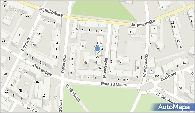Kołobrzeg, Piastowska, 10, mapa Kołobrzegu