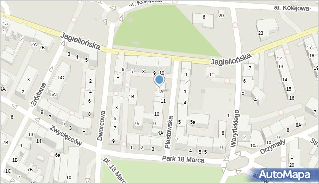 Kołobrzeg, Piastowska, 11A, mapa Kołobrzegu