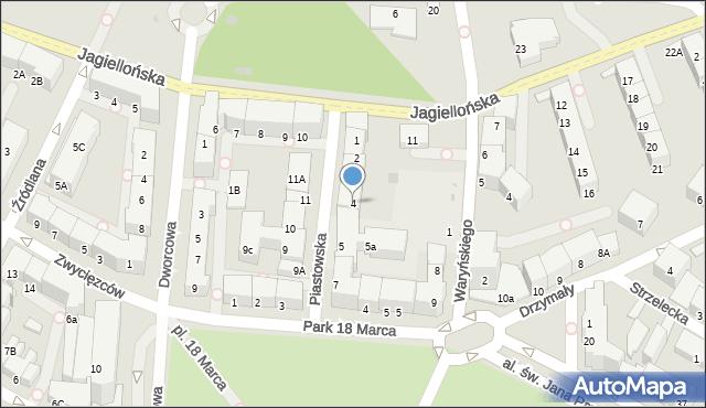 Kołobrzeg, Piastowska, 4, mapa Kołobrzegu