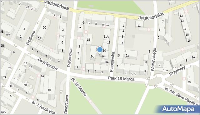 Kołobrzeg, Piastowska, 9b, mapa Kołobrzegu