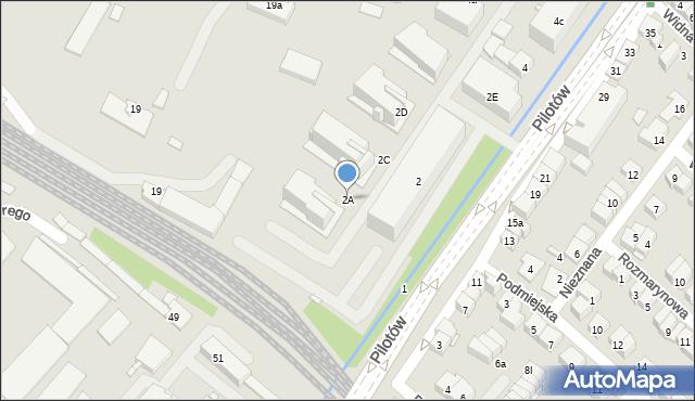 Kraków, Pilotów, 2A, mapa Krakowa
