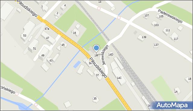 Limanowa, Piłsudskiego Józefa, marsz., 14f, mapa Limanowa