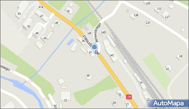 Limanowa, Piłsudskiego Józefa, marsz., 37A, mapa Limanowa