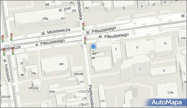 Łódź, Piotrkowska, 164, mapa Łodzi