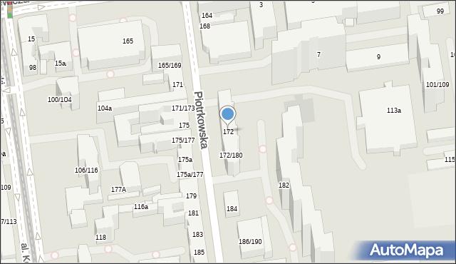 Łódź, Piotrkowska, 172, mapa Łodzi