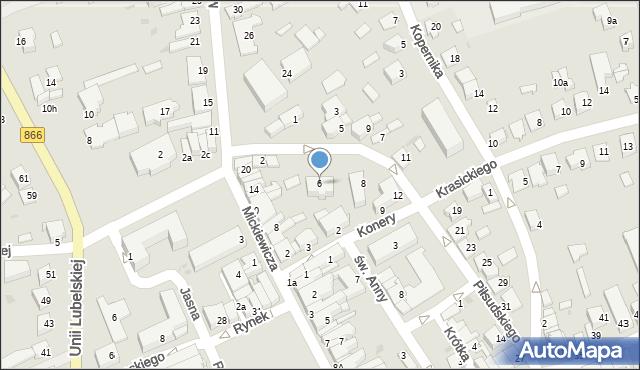 Lubaczów, Piłsudskiego Józefa, marsz., 6, mapa Lubaczów