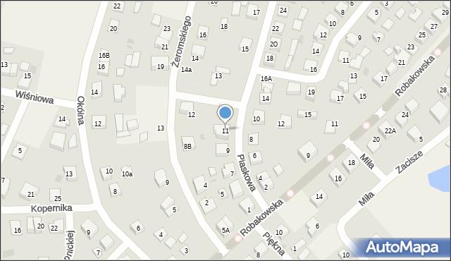 Luzino, Piaskowa, 11, mapa Luzino