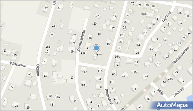 Luzino, Piaskowa, 13, mapa Luzino