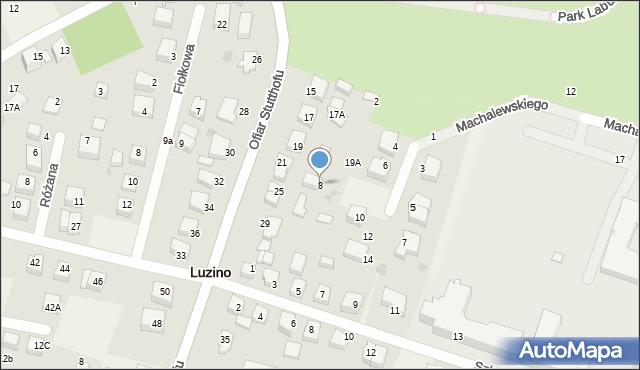 Luzino, Pileckiego Witolda, rtm., 8, mapa Luzino