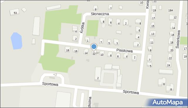 Miękinia, Piaskowa, 12, mapa Miękinia