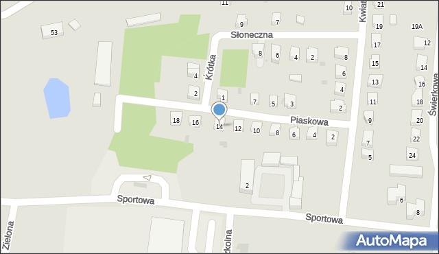 Miękinia, Piaskowa, 14, mapa Miękinia
