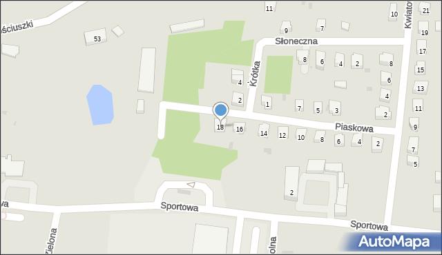 Miękinia, Piaskowa, 18, mapa Miękinia
