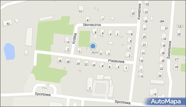 Miękinia, Piaskowa, 7, mapa Miękinia