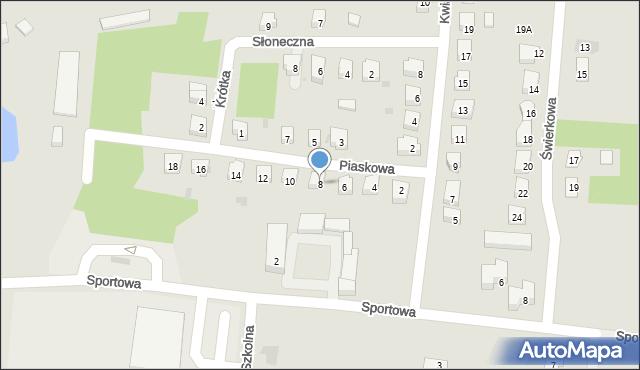 Miękinia, Piaskowa, 8, mapa Miękinia