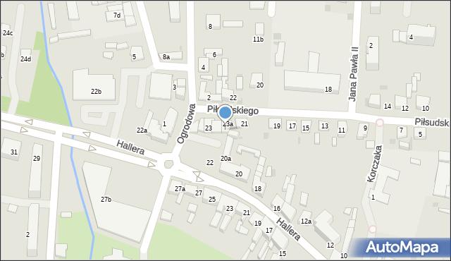 Mogilno, Piłsudskiego Józefa, marsz., 23b, mapa Mogilno