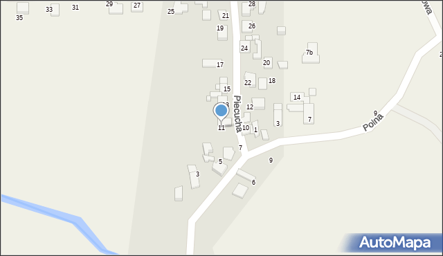 Potępa, Piecucha, 11, mapa Potępa