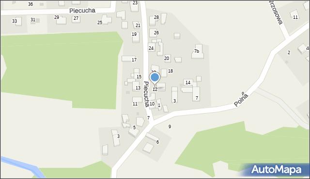 Potępa, Piecucha, 12, mapa Potępa