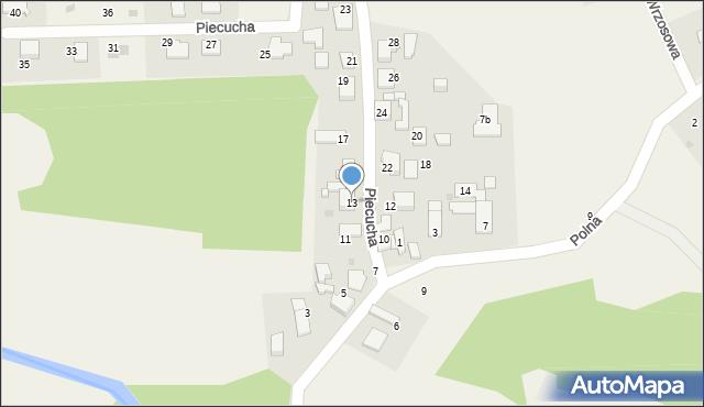 Potępa, Piecucha, 13, mapa Potępa