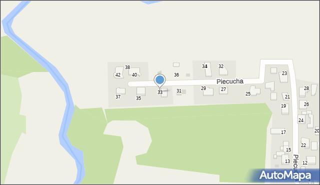 Potępa, Piecucha, 33, mapa Potępa