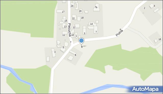 Potępa, Piecucha, 9, mapa Potępa