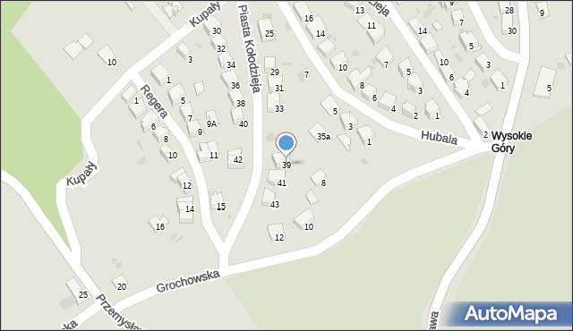 Przemyśl, Piasta Kołodzieja, 39, mapa Przemyśla